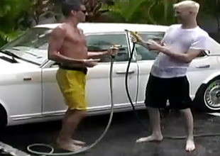 Hot Jocks Carwash Service Turns To Mad Gay Fucking