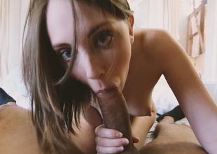 Irresistible dark brown beauty Nickey Huntsman gives some nice blowjob