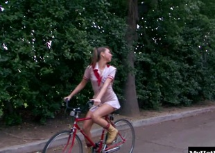 Riley Reid was riding down the street on her bike