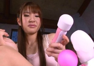 Haruna has a perfect chance to impale her pussy on the stiff cock