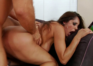 Dirty whore Francesca Le rides guy reverse and gets doggy screwed