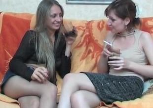 Christina and Rita hardcore pantyhose act