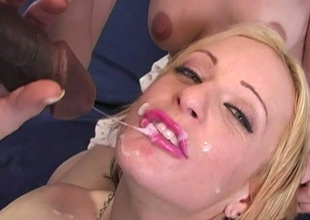 Blonde bitches including Michelle Sweet gets pounded mish by black bloke