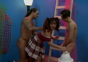 Raquel just likes when two men get sexually excited and want to poke her vagina