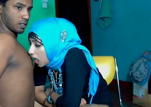 Lewd Srilankan couple stripteases and gets willing for foreplay on webcam