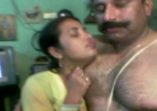 Chubby dark skinned Desi wifey gets hammered doggy style by hubby