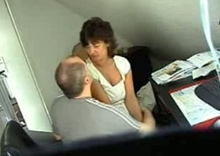 Brunette wifey caught on hidden webcam with her secret lover