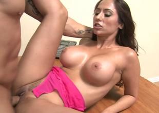 Irresistible brunette hoe Reena Sky gets hammered well
