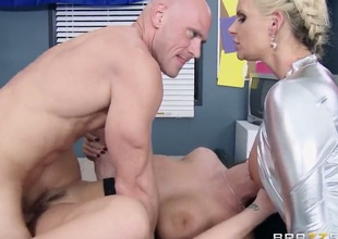 With gigantic hooters gets the pleasure from pussy fucking with Johnny Sins like never before
