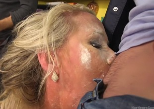 Creaming Pie: Mrs. S gets her MILF holes group-fucked by her son's friends!