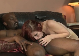 Violet Monroe is a blowjob junkie who loves guys stiff meat pole