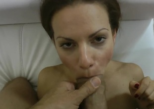 Mira Shine offers her fuckable mouth to hard dicked Rocco Siffredi