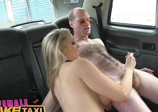 Runaway passenger restrained by blonde
