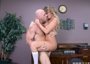 Alexis Adams is a whore of a student that does not listen to reason and does not behave. Johnny Sins, who is security, is tired of her behavior and teaches her a lesson.
