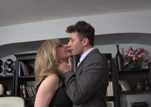 Do you like James Deen videos Then youd like that one with superb fascinating blond milf Nina Hartley. They were so bored in the office than decided to acquire hard sex on the office table
