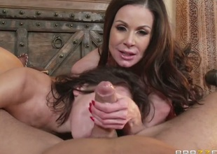 Kendra Lust finds it exciting to be face screwed by Keiran Lee in front of the camera