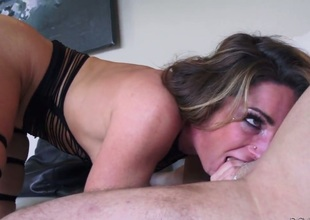 John Rock hard wants to fuck playful Savannah Foxs juicy mouth forever before ass way fucking