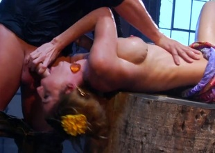 Kayla Paige asks Evan Stone to shove his rock hard cock in her throat