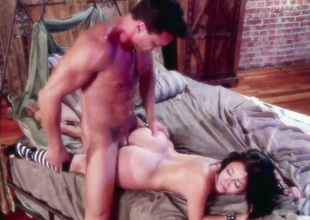 Kristina Rose makes dude happy by blowing his throbbing love stick