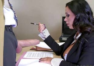 Hot lawyer Nikki Benz getting team-fucked by a huge cock