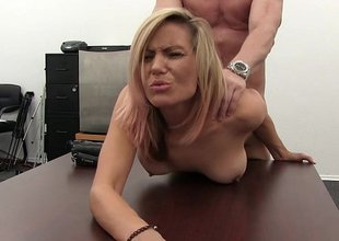 Blonde MILF can't live without to fuck on couch and table