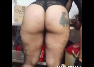 Excellent dark booty babes