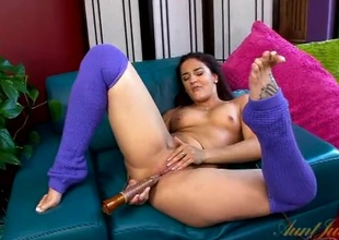 Great orgasm for a cute masturbating milf
