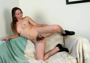 Very hairy legs on the girl are breathtakingly sexy