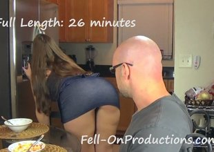 Female felon seduces and bonks a stud and a girl