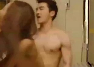 Nice Asian brunette babe gets screwed from behind real hard