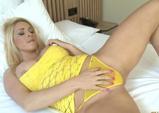 Large Tits Under Yellow Lingerie